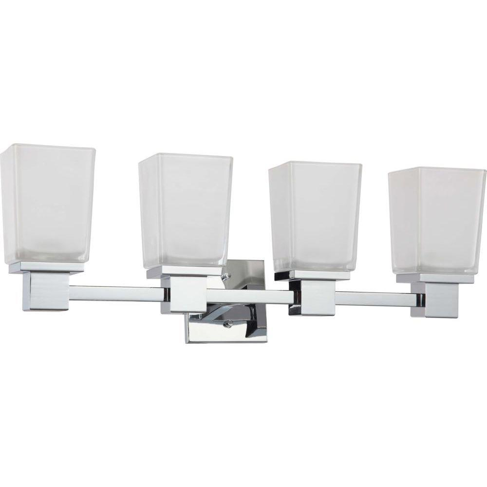 Glomar Belisana 4-Light Polished Chrome Bath Vanity Light