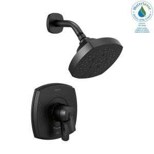Stryke 1-Handle Wall Mount 5-Spray Shower Faucet Trim Kit in Matte Black (Valve Not Included)