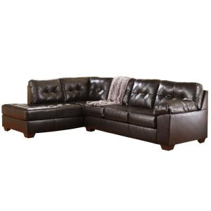 Excellent Signature Design By Ashley Alliston Sectional In Chocolate Durablend Ibusinesslaw Wood Chair Design Ideas Ibusinesslaworg
