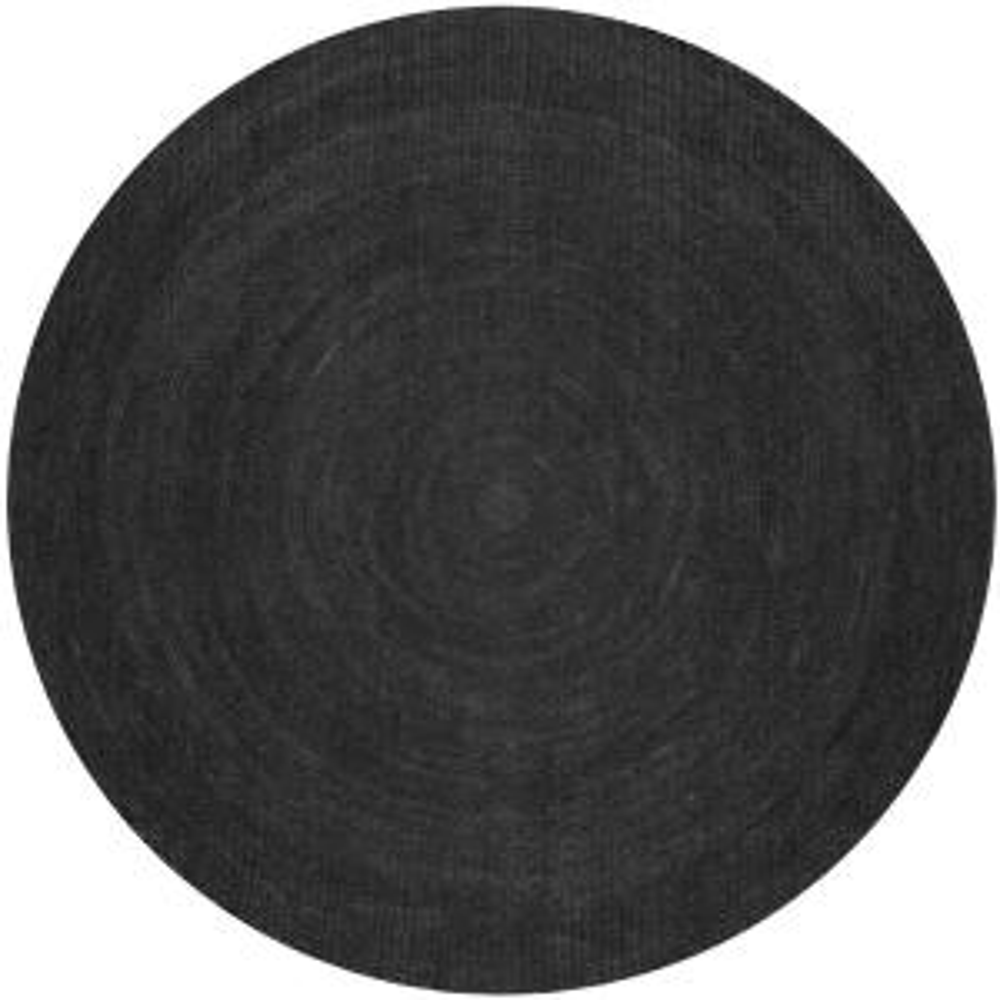 Rigo Chunky Loop Jute Black 4 ft. Round Rug