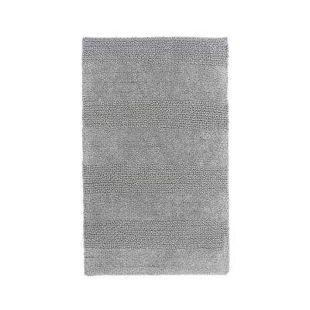 Wide Cut Silver 30 in. x 20 in. Reversible Bath Rug