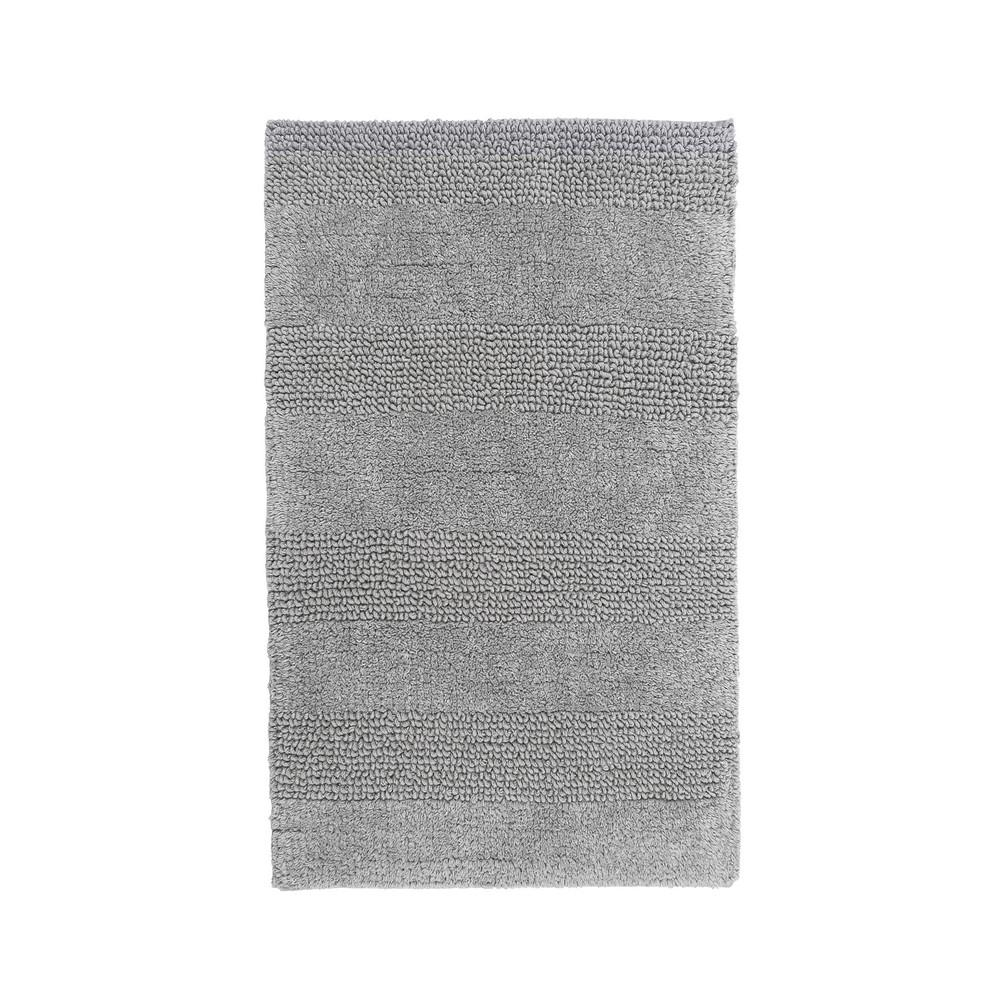 Wide Cut Silver 21 in. x 34 in. Reversible Bath Rug