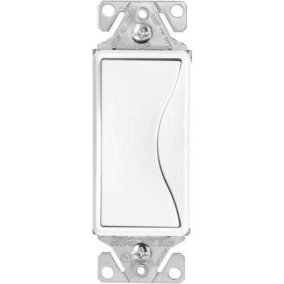 Aspire 15 Amp Side Wire and Push Wire Single Pole Switch, Alpine White