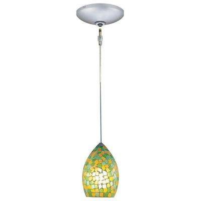 Low Voltage Quick Adapt 4-5/8 in. x 104-3/4 in. Green/Yellow Pendant and Canopy Kit
