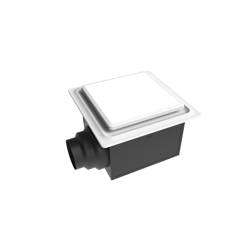 Aero Pure Low Profile 80 CFM 0.3 Sones Quiet Ceiling Bathroom Ventilation Fan with LED Light/Night Light White