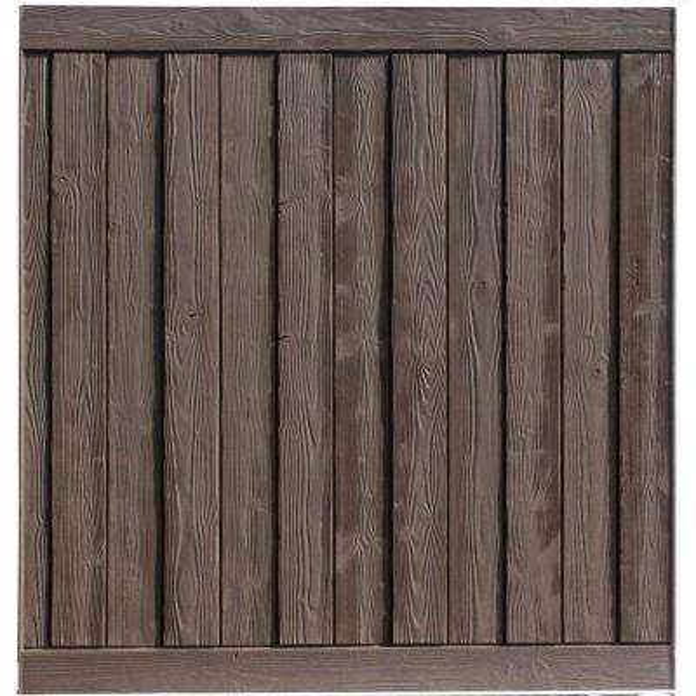 Ashland 6 ft  H x 6 ft  W Walnut Brown Composite Fence Panel