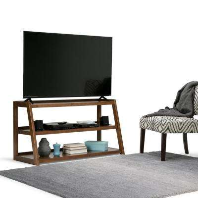 Sawhorse Medium Saddle Brown TV Media Stand