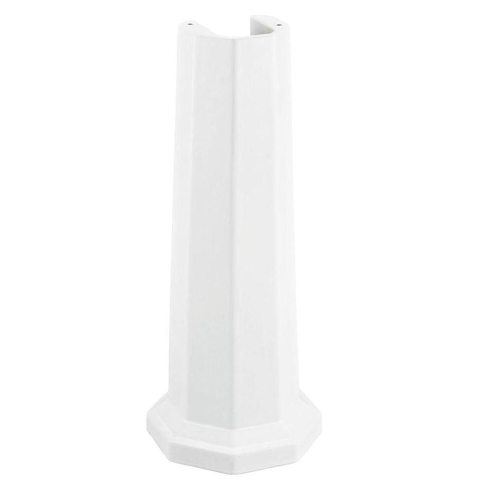 Kathryn Ceramic Pedestal Bathroom Sink in White