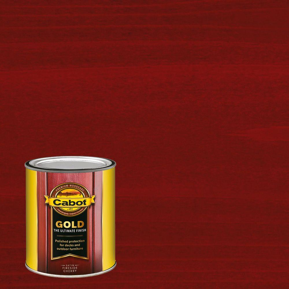 Cabot 1 qt. Fireside Cherry Gold Oil Exterior Deck Varnish ...
