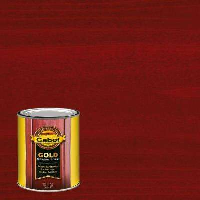1 qt. Fireside Cherry Gold Oil Exterior Deck Varnish, VOC Compliant