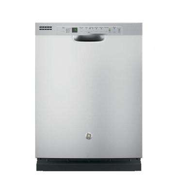 Front Control Dishwasher in Stainless Steel with Steam Prewash