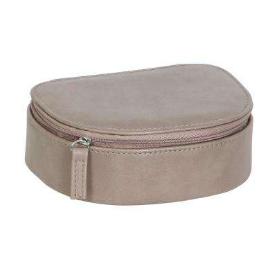 Rowley Sand Faux Leather Jewelry Box