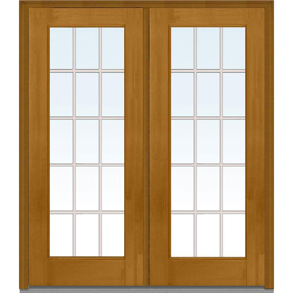 Mmi door 72 in x 80 in grilles between glass right hand for Fiberglass well house