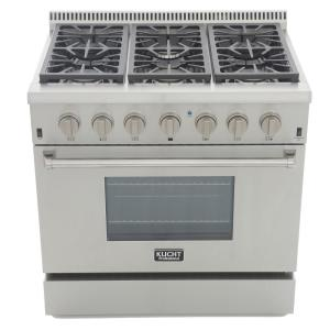 Pro-Style 36 in. 5.2 cu. ft. Natural Gas Range in Stainless Steel