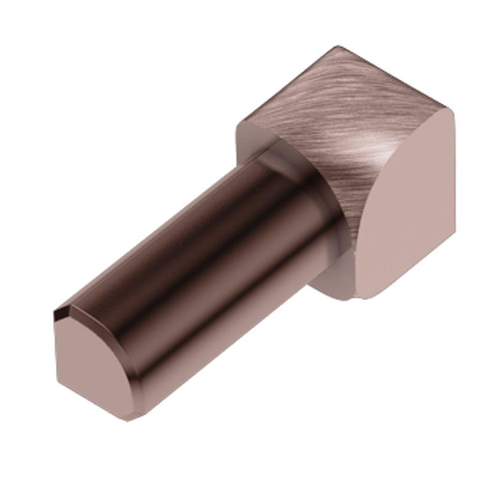Rondec Brushed Copper Anodized Aluminum 3/8 in. x 1 in. Metal