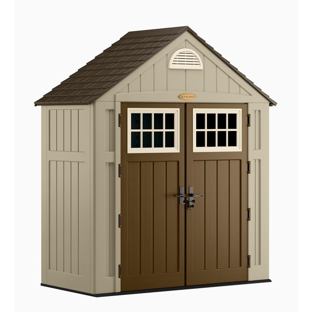 Ordinaire Suncast Alpine 3 Ft. 8 In. X 7 Ft. 6 In. Resin Storage Shed BMS7300D   The  Home Depot