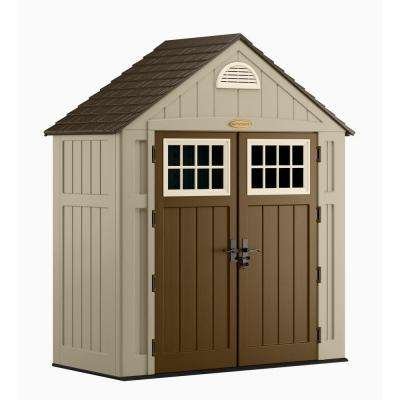 Alpine 3 ft. 8 in. x 7 ft. 6 in. Resin Storage Shed