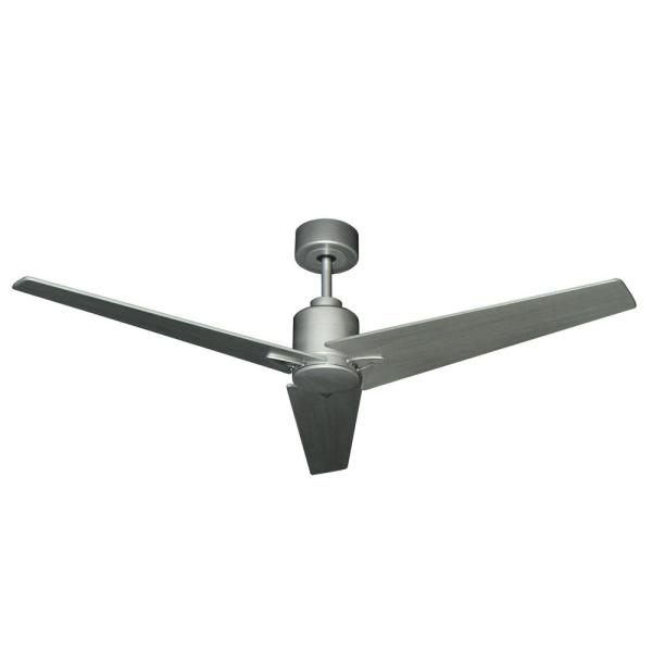Reveal 52 in. Indoor/Outdoor Brushed Nickel Ceiling Fan with Remote Control