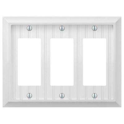 Cottage 3-Gang Decora Wall Plate - White