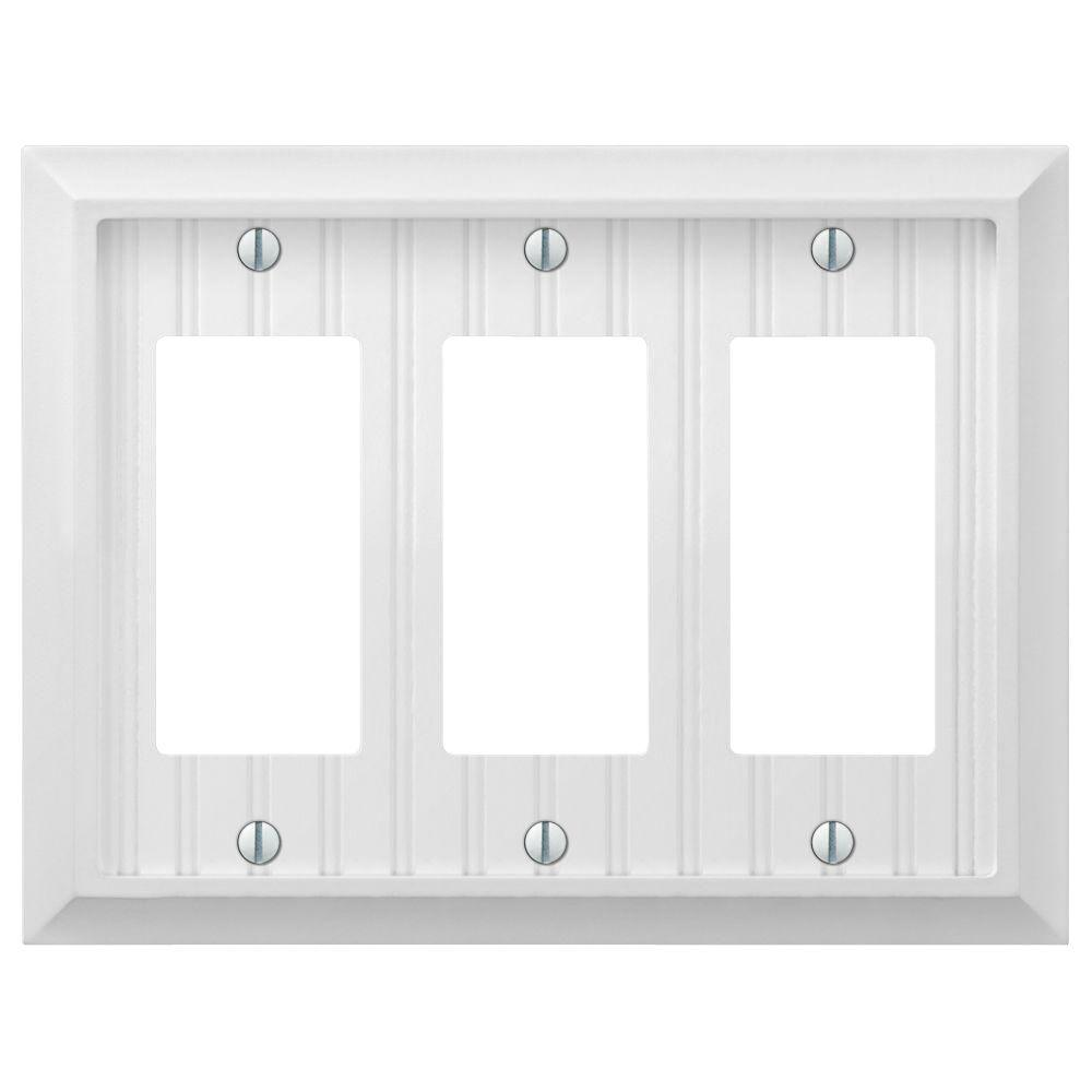 cottage 3gang decora wall plate white