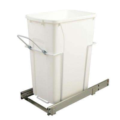 9.625 in. x 20.125 in. x 18.813 in. 35 Qt. In-Cabinet Single Soft-Close Bottom-Mount Pull-Out Trash Can