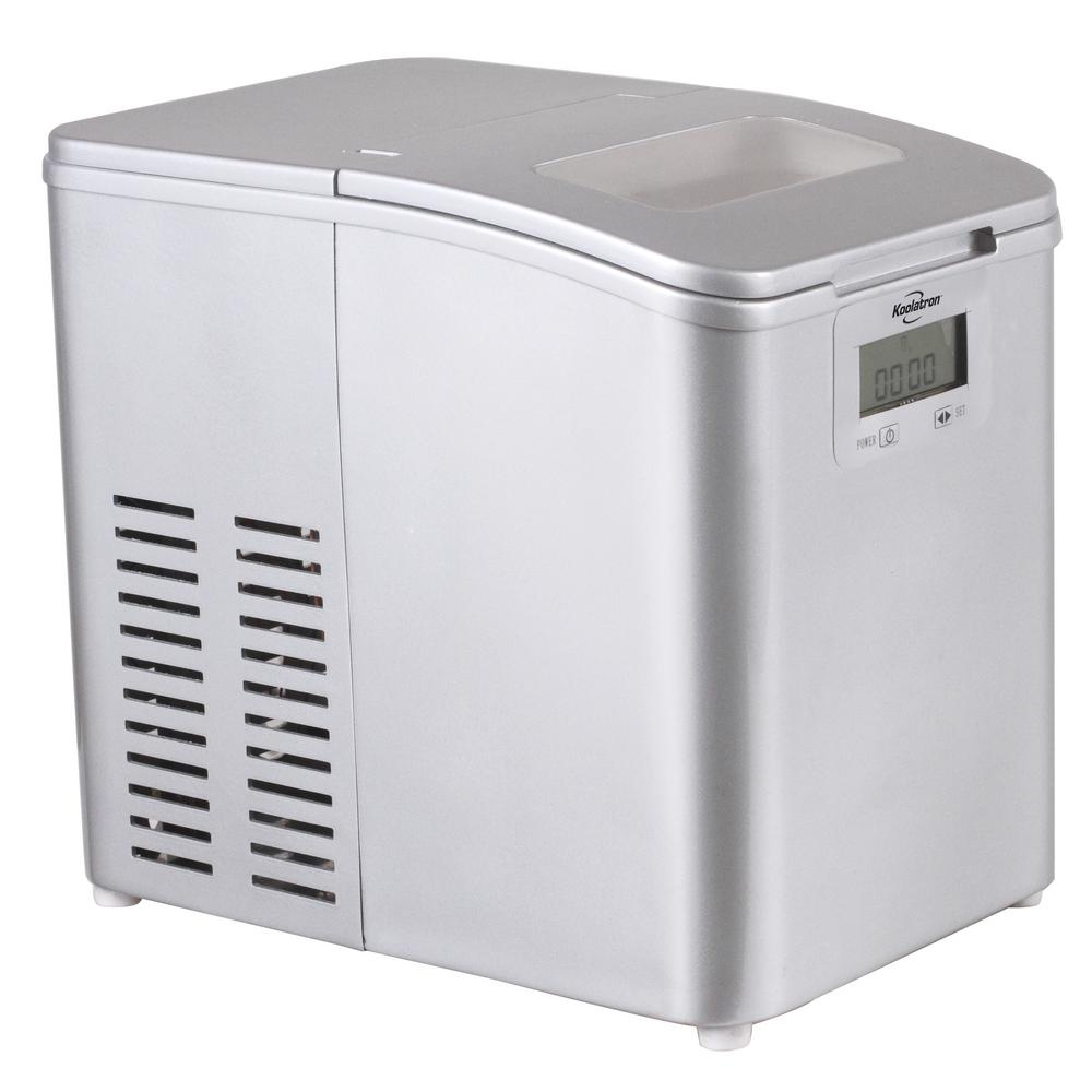 Koolatron 26 lb. Portable Freestanding Ice Maker in Stainless Steel, Gray
