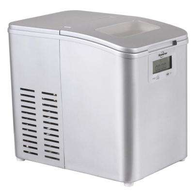 26 lb. Portable Freestanding Ice Maker in Stainless Steel