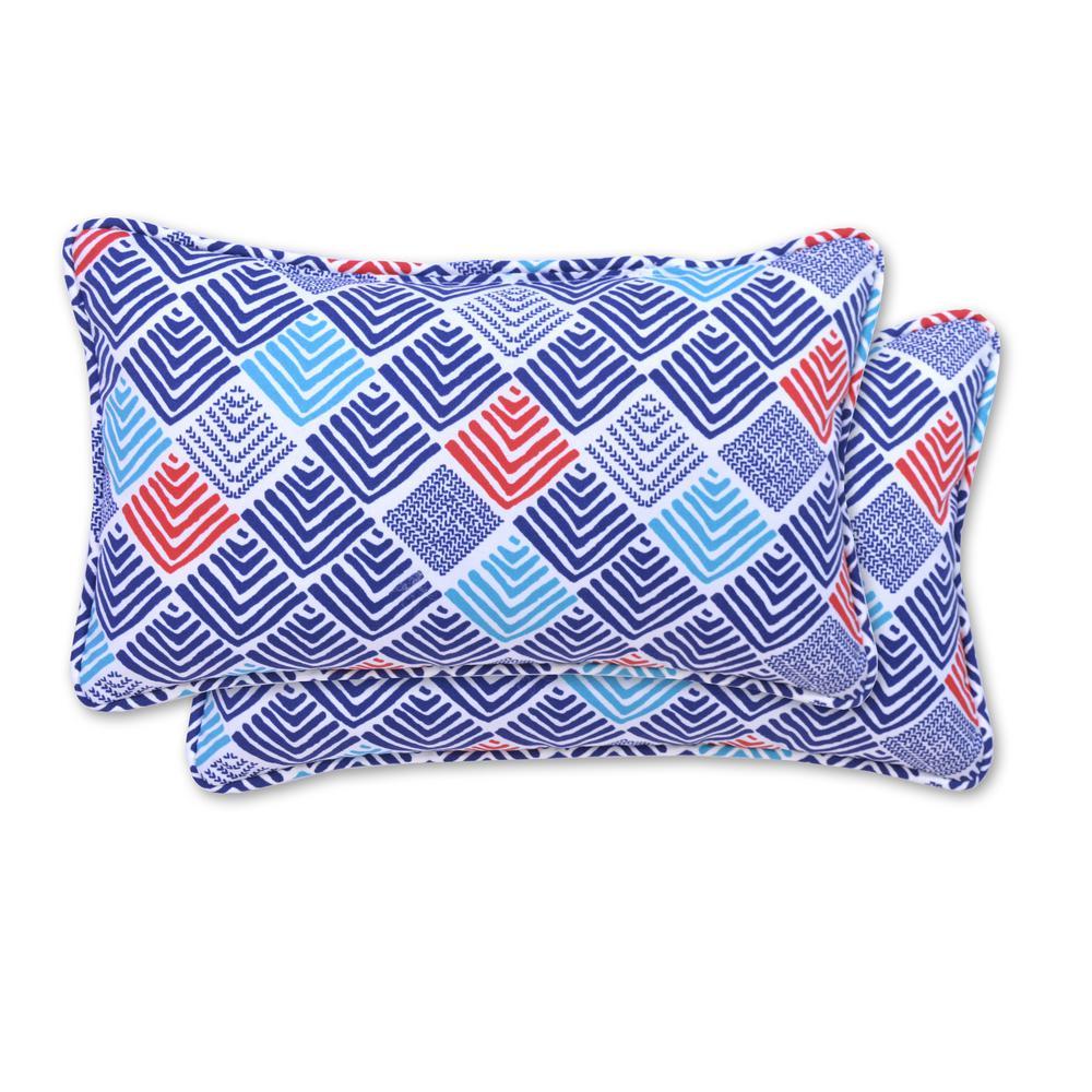 Afton Stone Rectangle Lumbar Outdoor Throw Pillow (2-Pack)