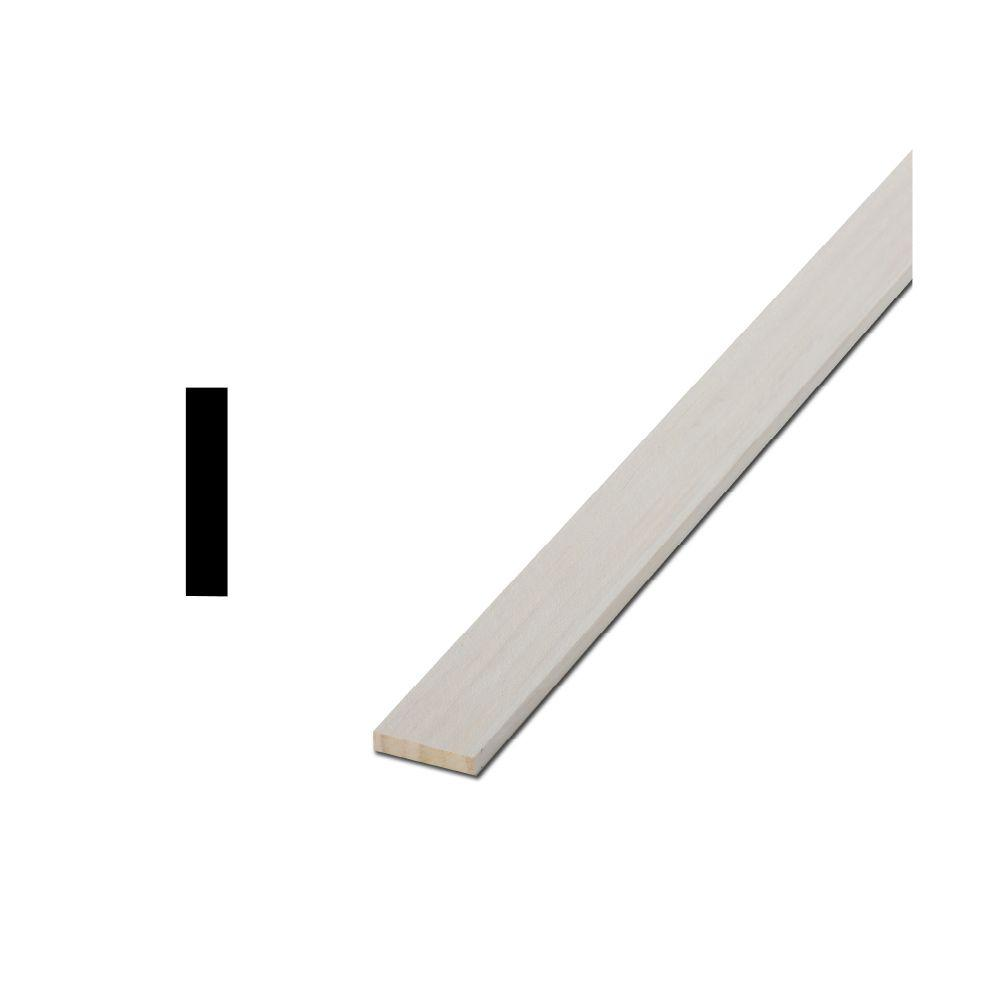Woodgrain Millwork LWM 266 1/4 in. x 1-1/2 in. x 96 in. Primed Finger-Jointed Lattice Moulding