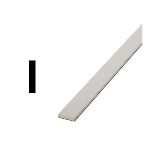 LWM 266 1/4 in. x 1-1/2 in. x 96 in. Primed Finger-Jointed Lattice Moulding