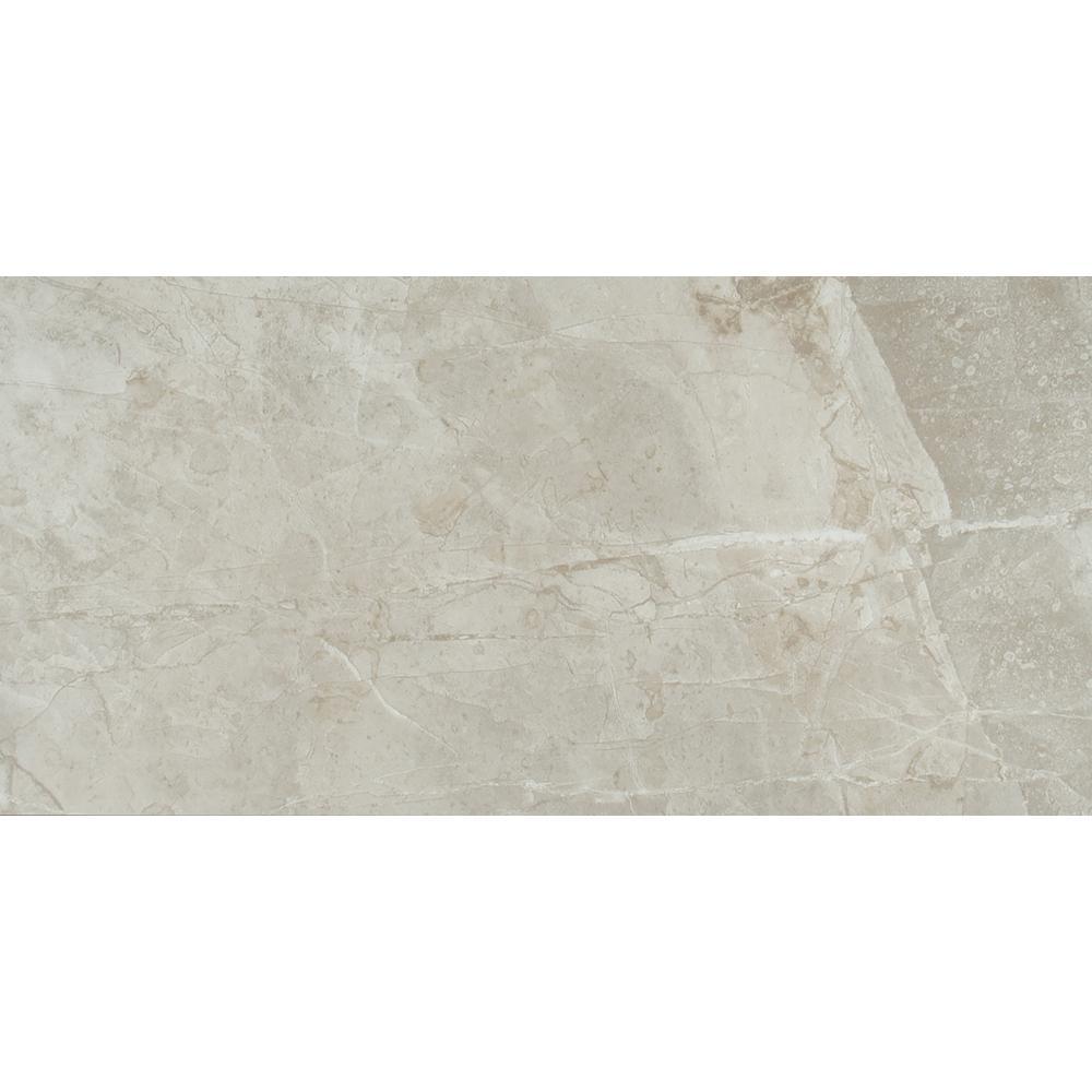 Vision Glacier 12 in. x 24 in. Glazed Ceramic Floor Tile (16 sq. ft. / case)