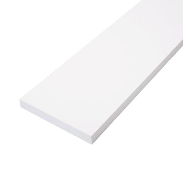 1 in. x 5 in. x 8 ft. Finger-Joint Primed Pine Board (Actual Size: 0.7086 in. x 4.5 in. x 8 ft.) (6-Piece per Box)