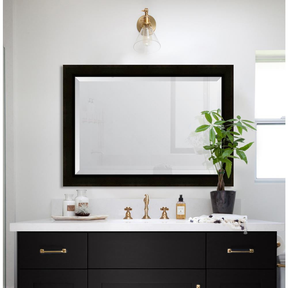 melissa van hise 30 in x 42 in sumatra resin frame mirror mir3252436 the home depot. Black Bedroom Furniture Sets. Home Design Ideas