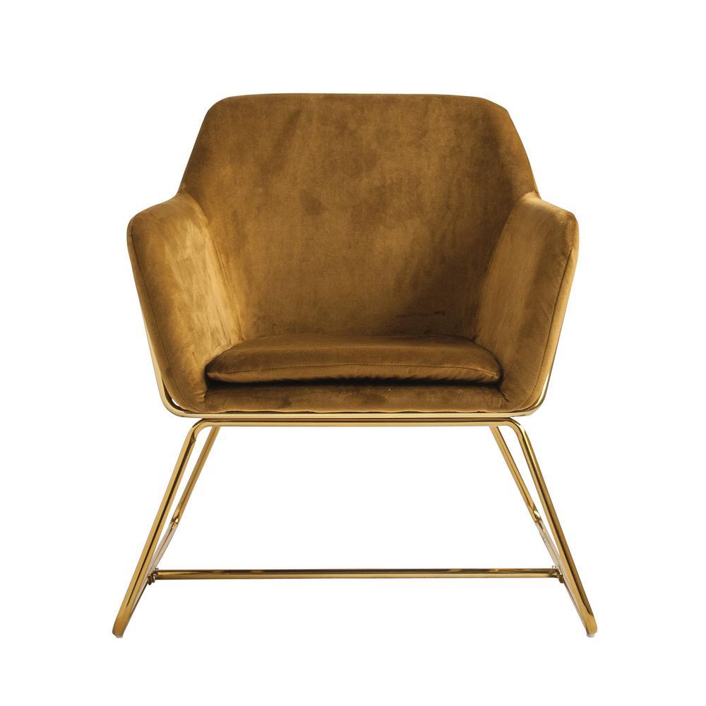 Chestnut Brown Velvet Chair