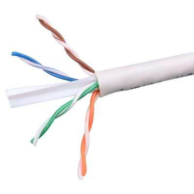 Electronic Master Category 6 1000 ft. White 24-4 Unshielded Twist Pair Cable