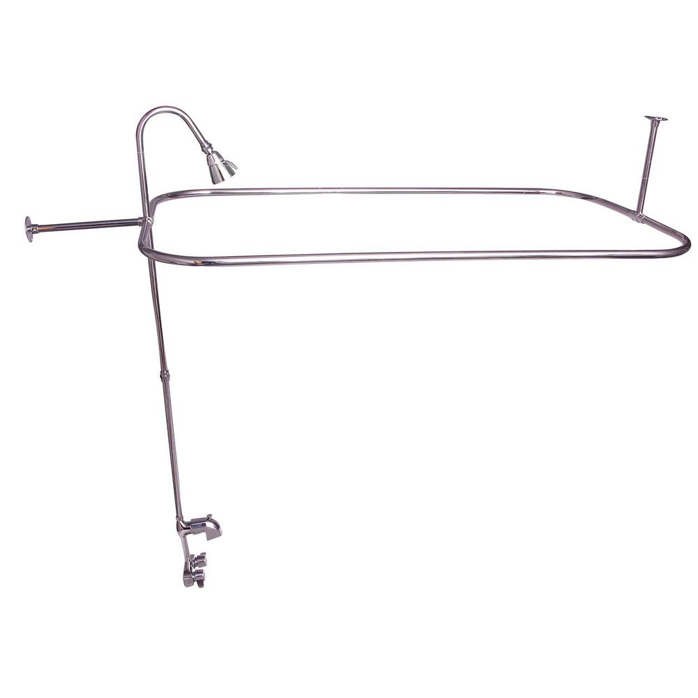 Barclay Products Plastic Lever 2-Handle Claw Foot Tub Faucet with ...