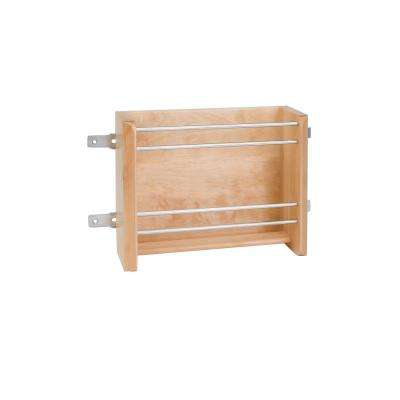 8 in. H x 13.13 in. W x 4 in. D Medium Wood Door Mount Foil Rack