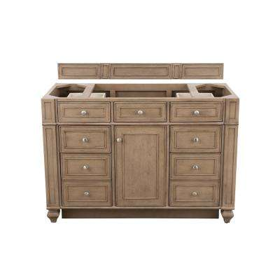 Bristol 48 in. W Bathroom Single Vanity Cabinet Only in Whitewashed Walnut