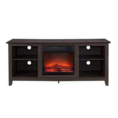 Essential Espresso Fire Place Entertainment Center