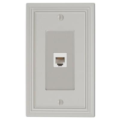 Hallcrest 1 Gang Phone Metal Wall Plate - Gray