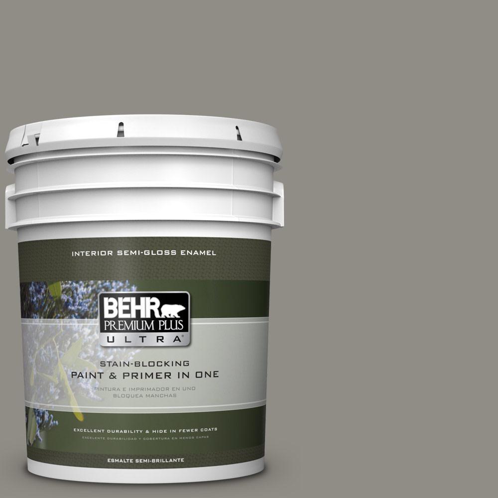 5 gal. #PPU24-08 Parador Stone Semi-Gloss Enamel Interior Paint
