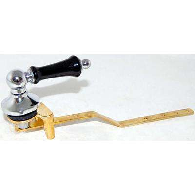 Toilet Tank Lever for Toto Toilets in Chrome with Ebony Handle Insert