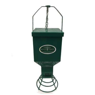 Heavy Duty Metal Bird Feeder in Green