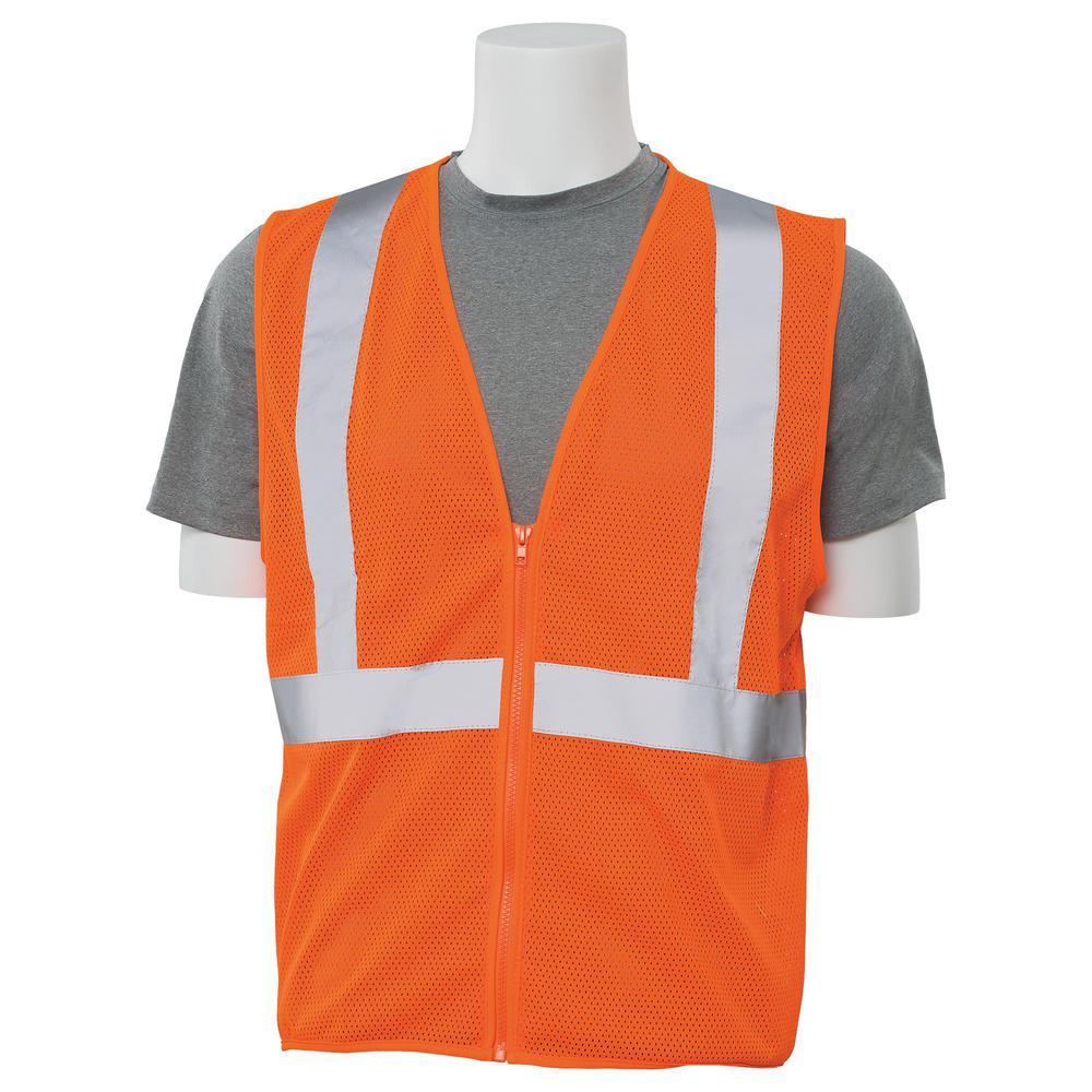 S363 3X Hi Viz Orange Economy Poly Mesh Safety Vest