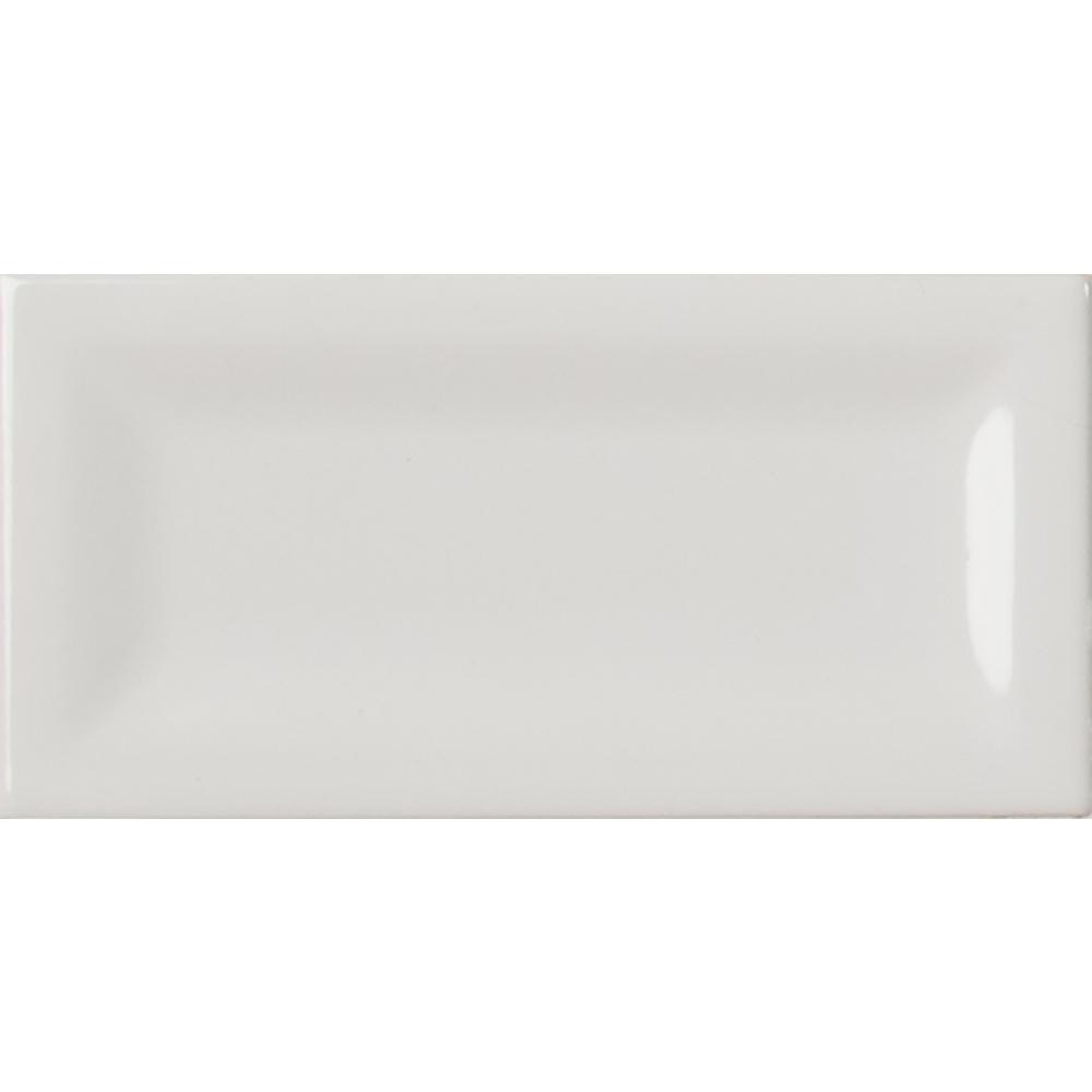 Reversed Bevel White 3 In X 6 Glazed Ceramic Wall