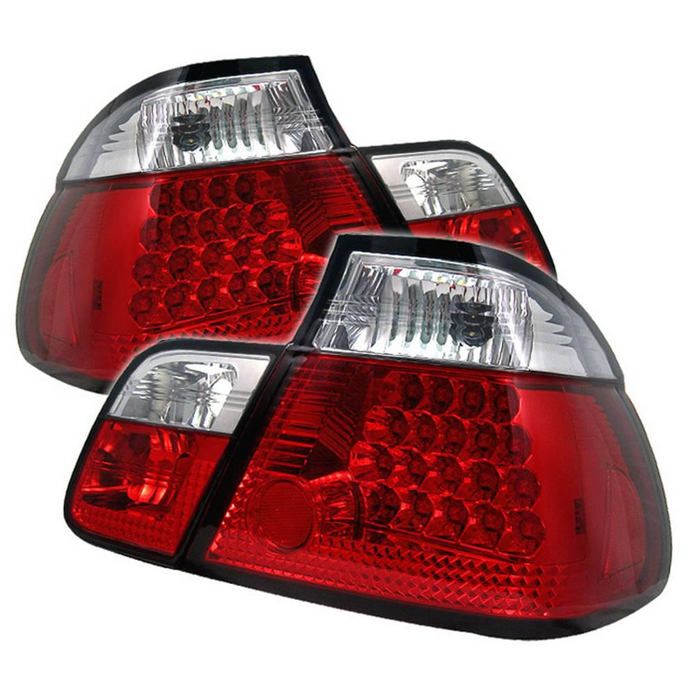 Car Tail Lights >> Spyder Auto Bmw E46 3 Series 99 01 4dr Led Tail Lights Red Clear