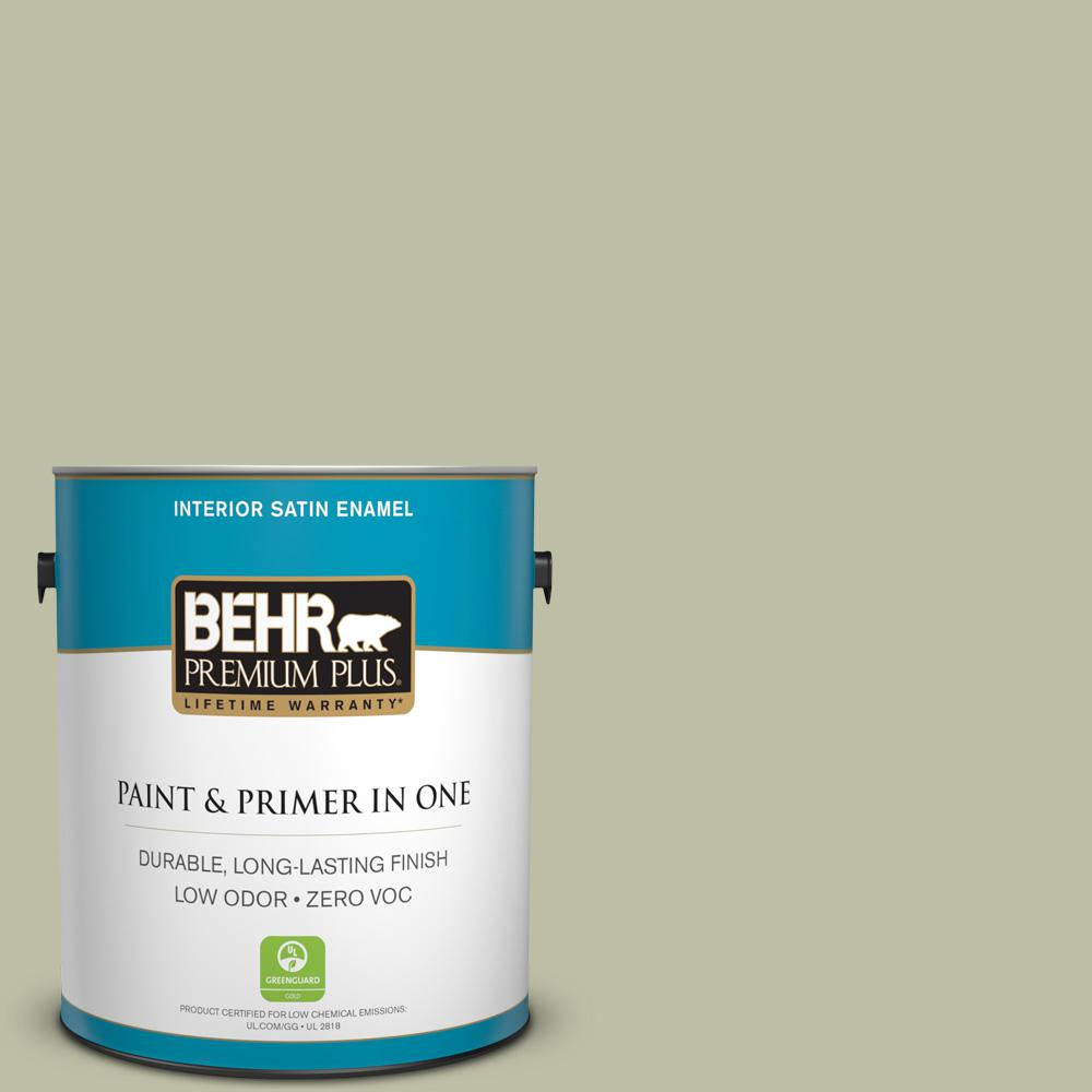 1-gal. #PPF-24 Garden Lattice Zero VOC Satin Enamel Interior Paint