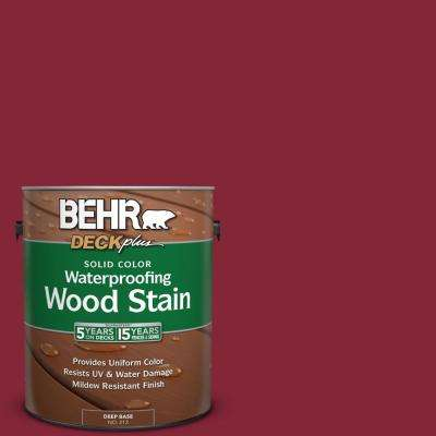 1 gal. #M140-7 Dark Crimson Solid Color Waterproofing Wood Stain
