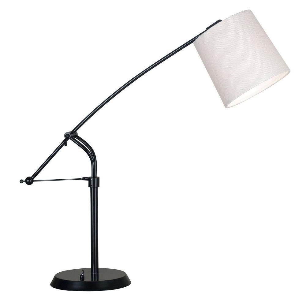 Kenroy Home Reeler 25-36 in. Oil-Rubbed Bronze Adjustable Table Lamp