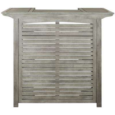 Monterey Grey Wash Wood Outdoor Serving Bar